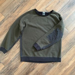Billy Reid XL Green Black Crewneck Sweater
